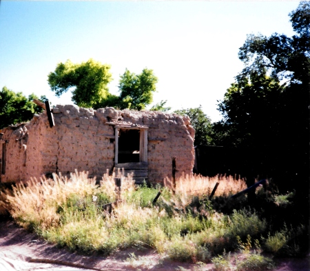 Abandoned Adobe near Taos, New Mexico - photo by Vera Lisa Smetzer.