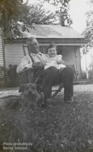 Granddad Smetzer and Rose in 1943. Photo probably by Bernie Smetzer