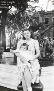Mom and my older sister Rose, summer 1943. Photo probably by Bernie Smetzer