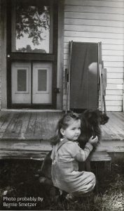 My sister Rose and Shep. 1940's. Photo probably by Bernie Smetzer.